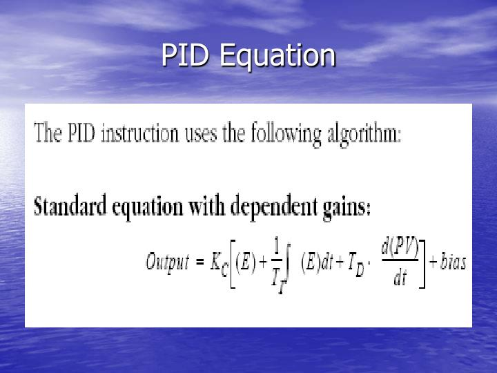 PID Equation