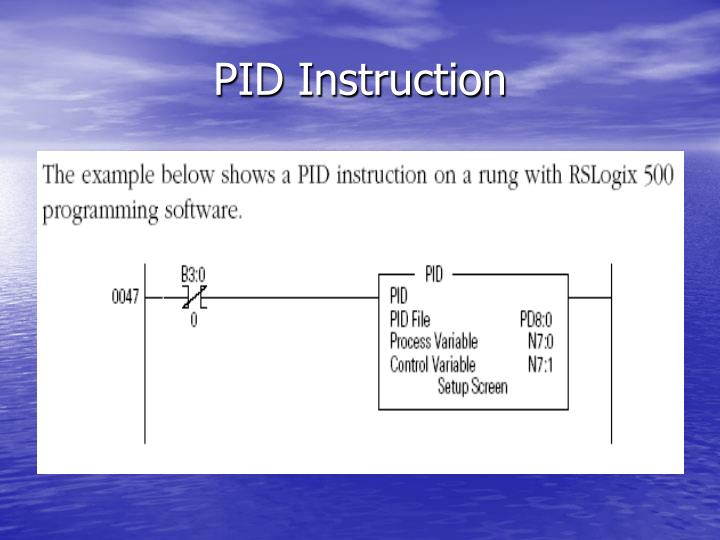 PID Instruction