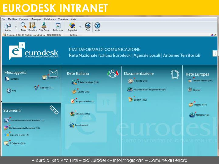 EURODESK INTRANET