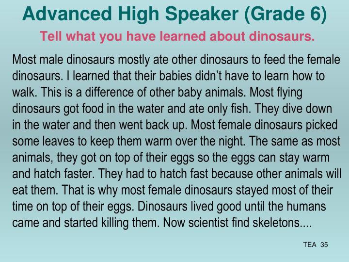 Advanced High Speaker (Grade 6)