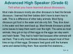 advanced high speaker grade 6