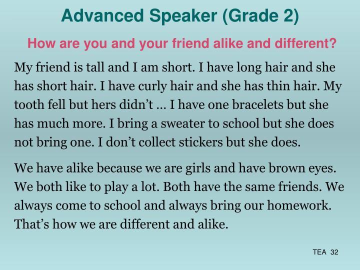 Advanced Speaker (Grade 2)