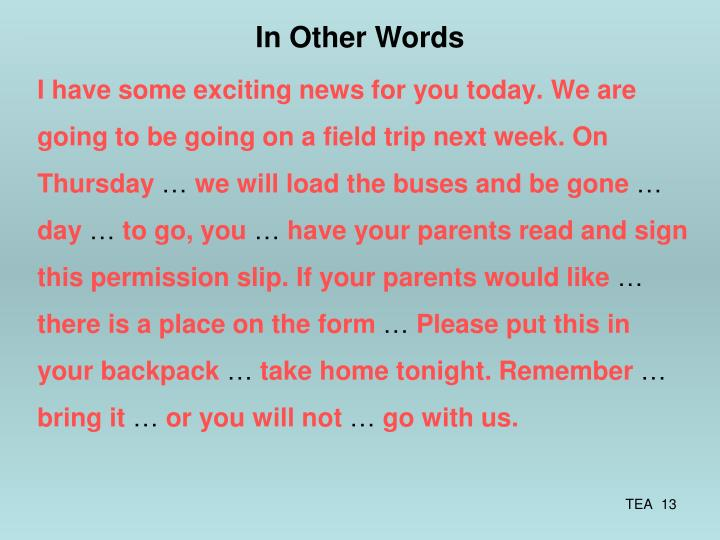 I have some exciting news for you today.