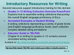 introductory resources for writing