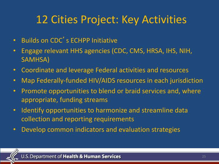 12 Cities Project: Key Activities