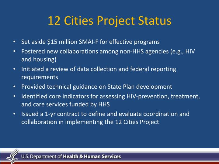 12 Cities Project Status