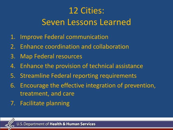 12 Cities:
