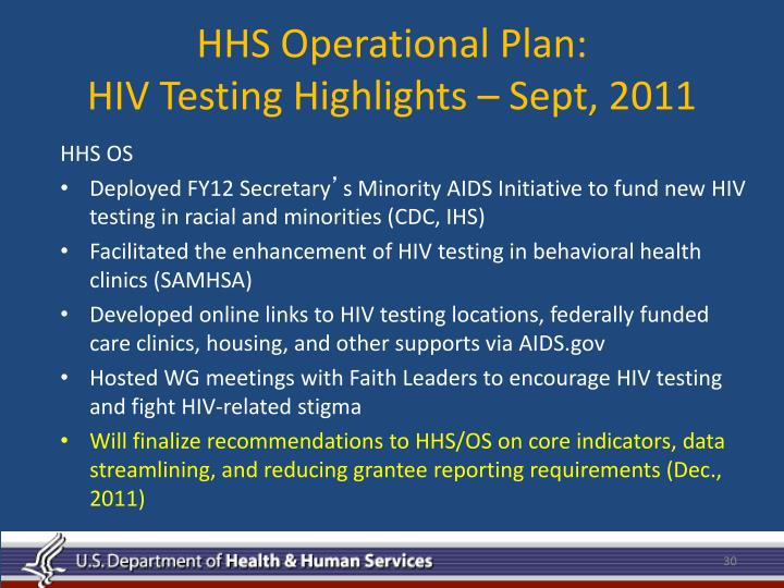 HHS Operational Plan: