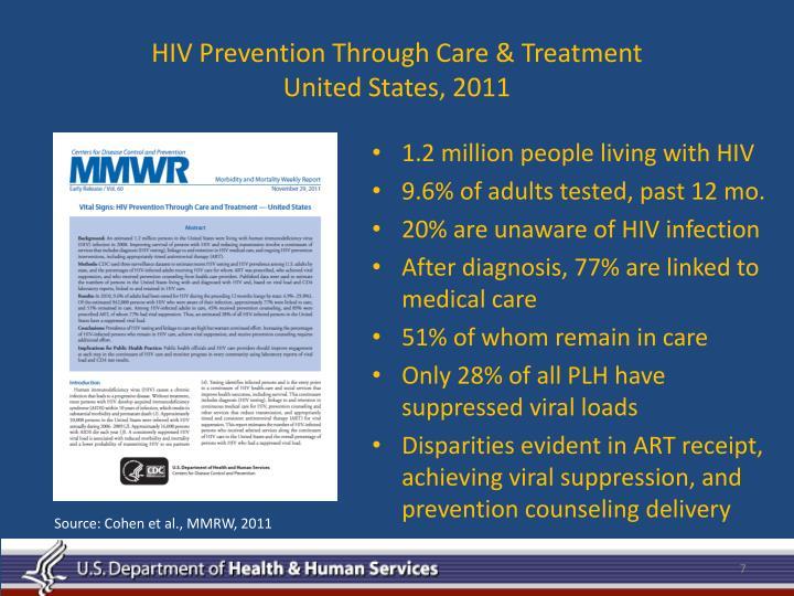 HIV Prevention Through Care & Treatment