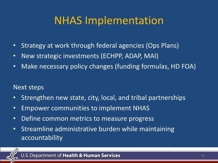 NHAS Implementation