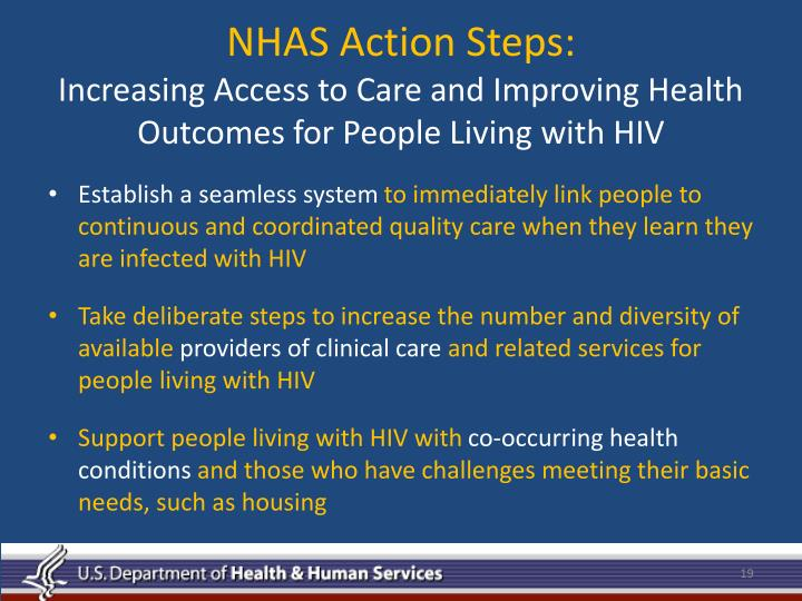NHAS Action Steps:
