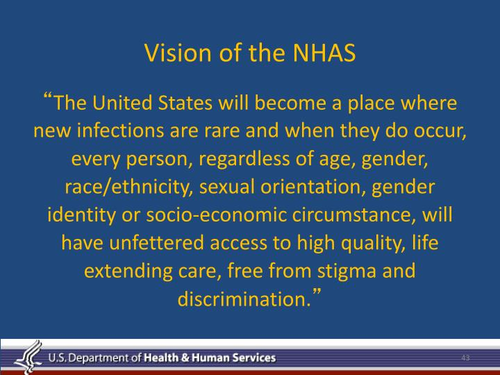 Vision of the NHAS
