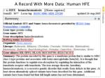 a record with more data human hfe