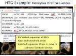 htg example honeybee draft sequences