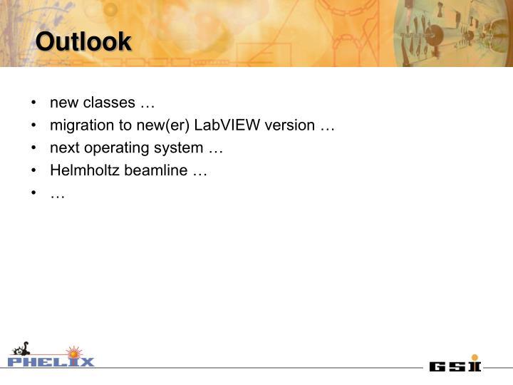new classes …