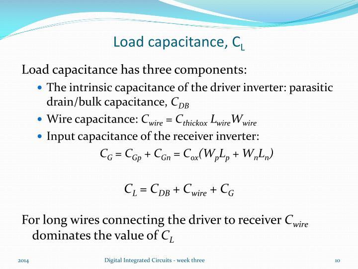 Load capacitance, C