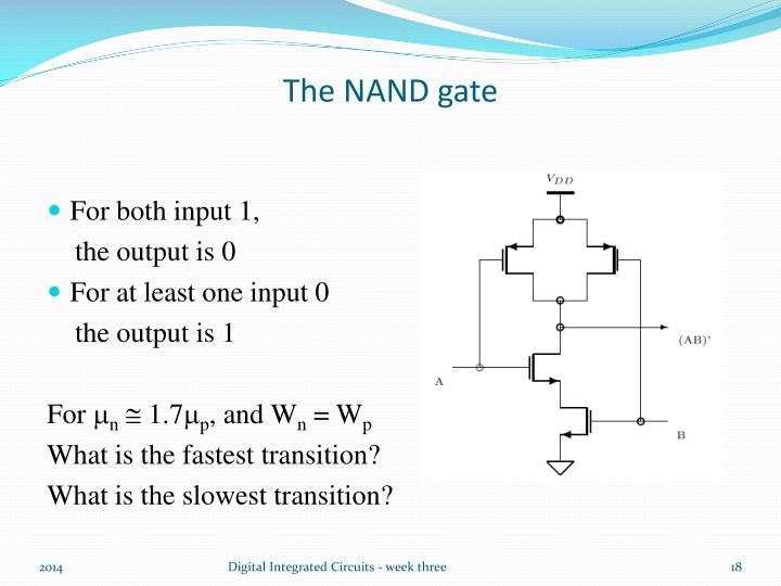 The NAND gate