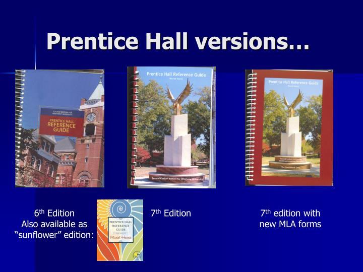 Prentice Hall versions…
