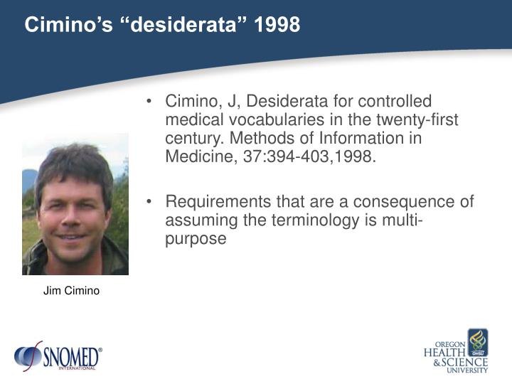 """Cimino's """"desiderata"""" 1998"""