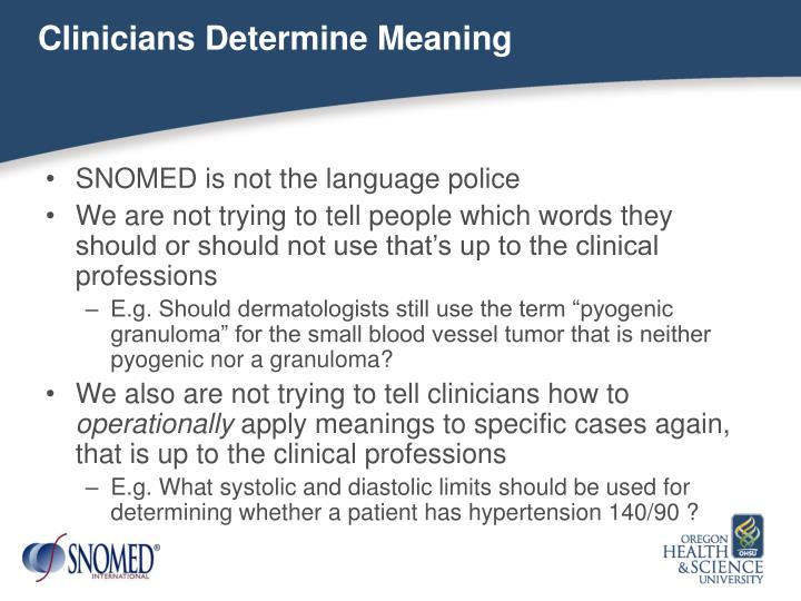 Clinicians Determine Meaning