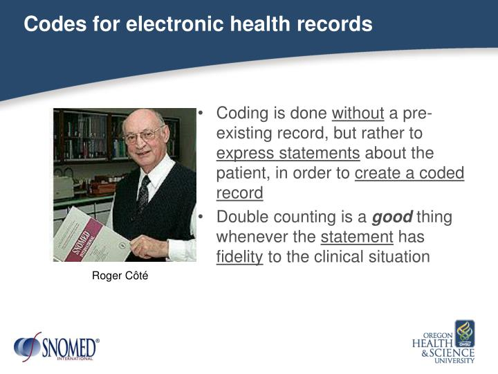 Codes for electronic health records