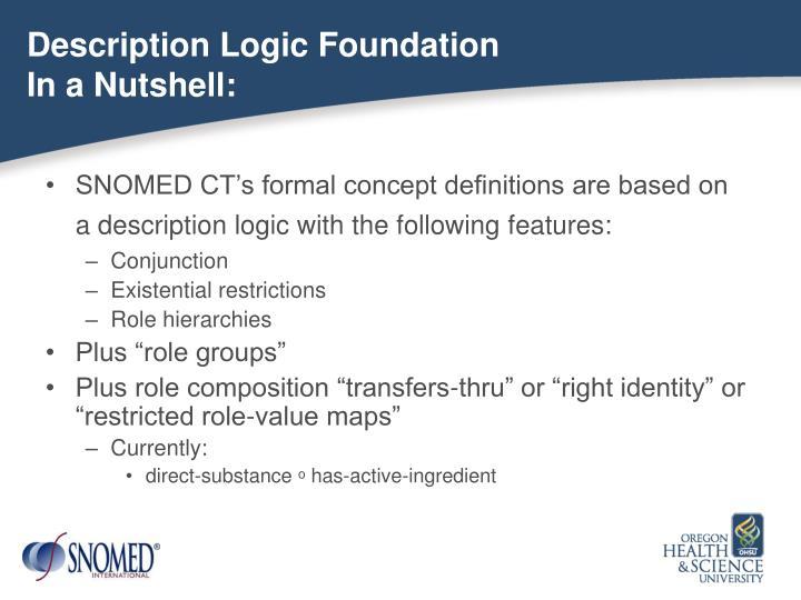Description Logic Foundation