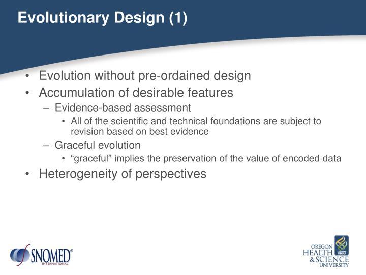 Evolutionary Design (1)