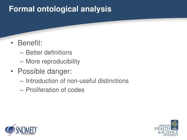 Formal ontological analysis