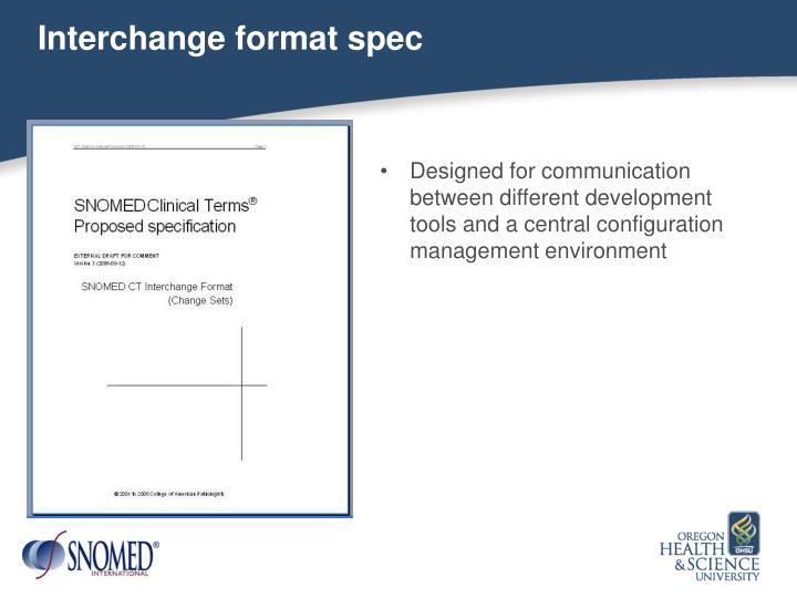 Interchange format spec