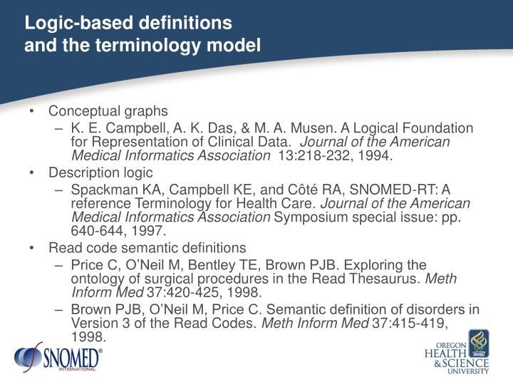Logic-based definitions