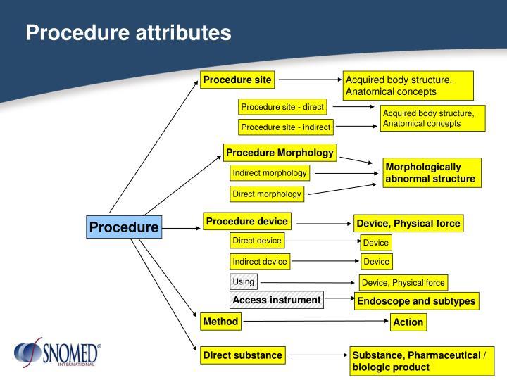Procedure attributes