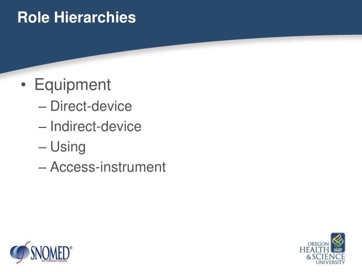 Role Hierarchies