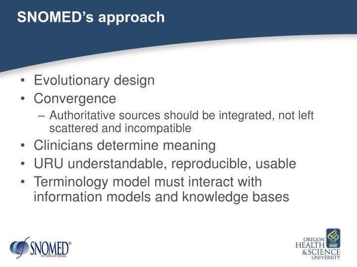 SNOMED's approach