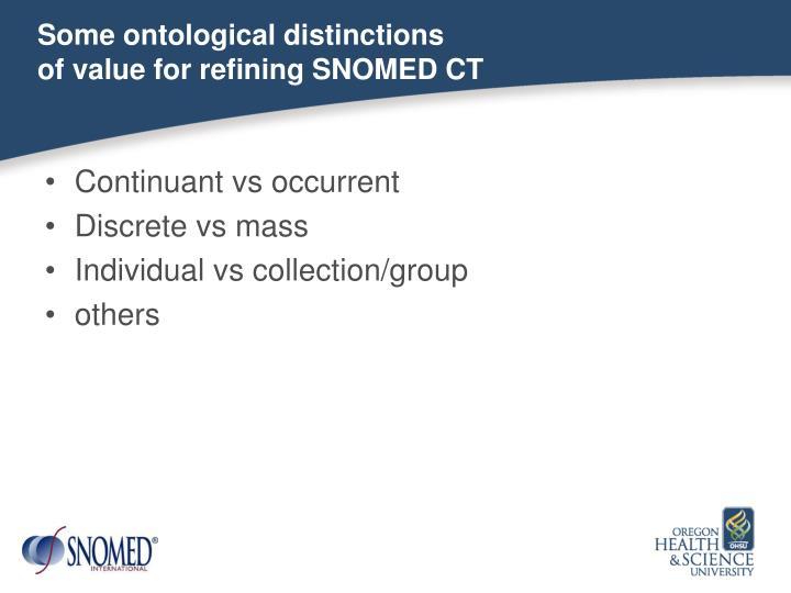 Some ontological distinctions