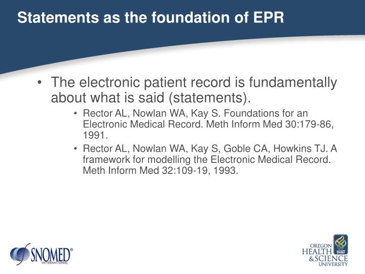 Statements as the foundation of EPR