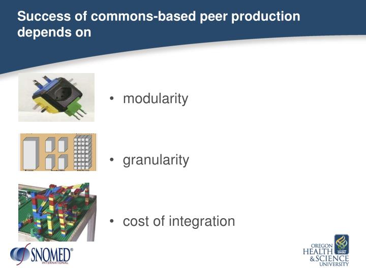 Success of commons-based peer production
