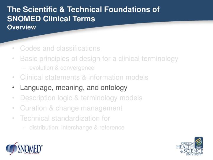 The Scientific & Technical Foundations of