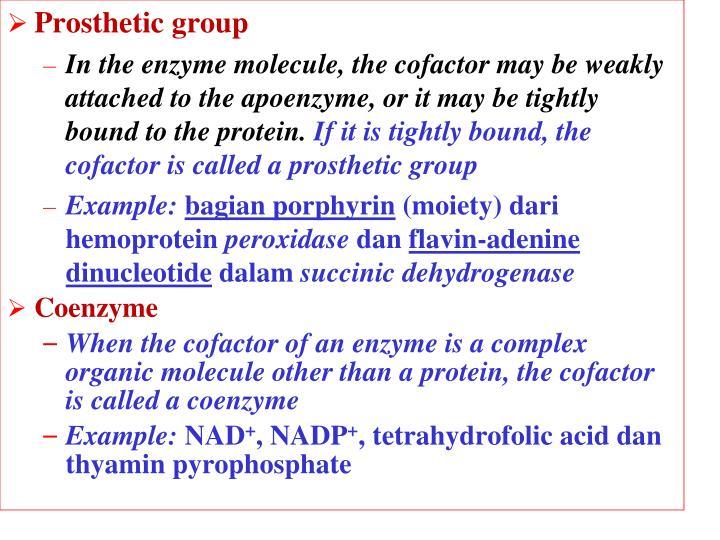 Prosthetic group