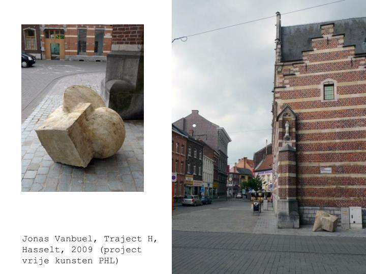 Jonas Vanbuel, compositie in beton, Traject H