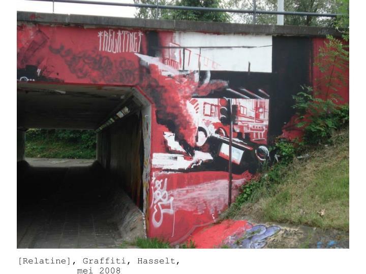 Karl Philips, grafitti fietstunnel,2008