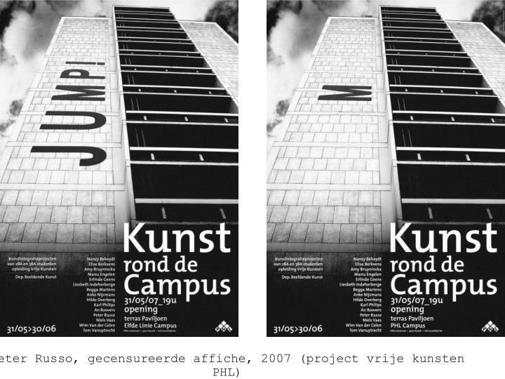 Peter Russo, affiche Kunst rond de Campus