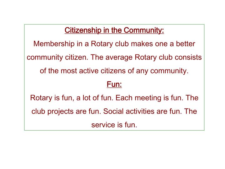 Citizenship in the Community: