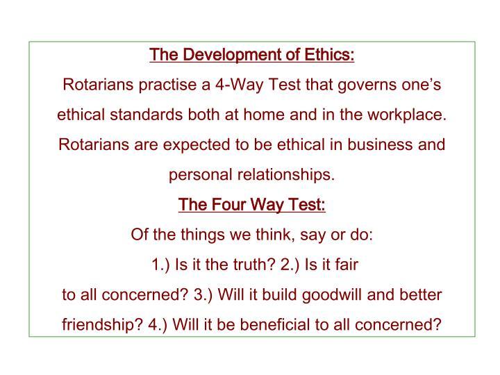 The Development of Ethics: