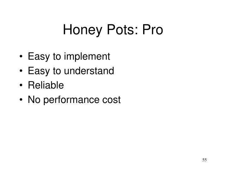Honey Pots: Pro