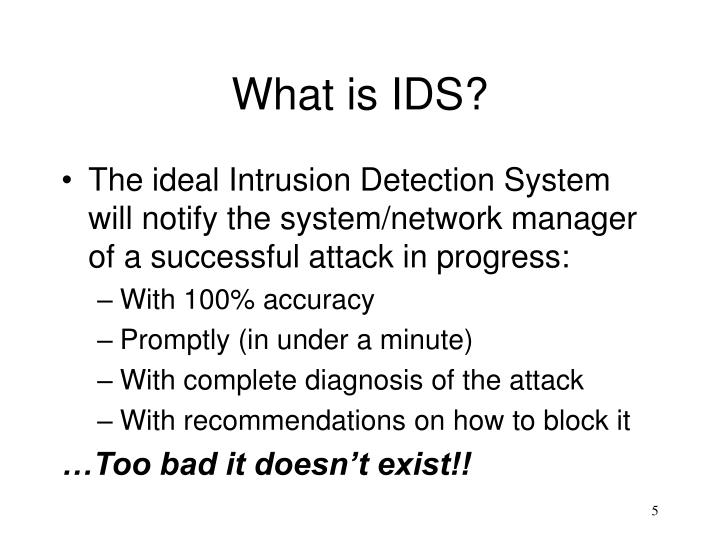 What is IDS?