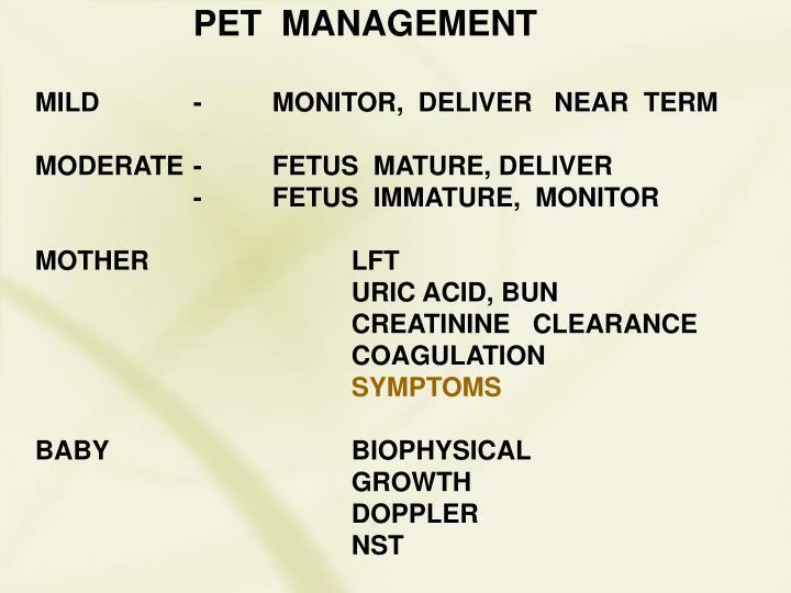 PET  MANAGEMENT