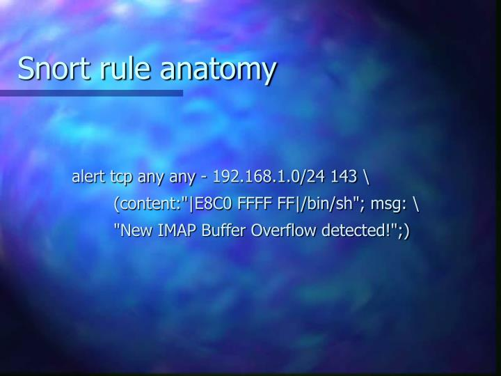 Snort rule anatomy