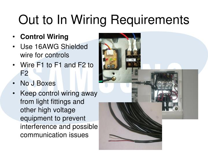 Out to In Wiring Requirements