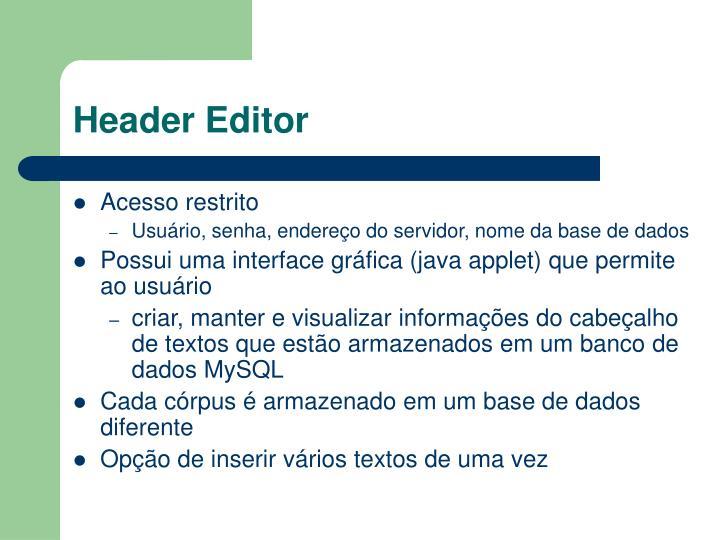 Header Editor