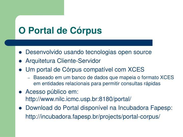 O Portal de Córpus